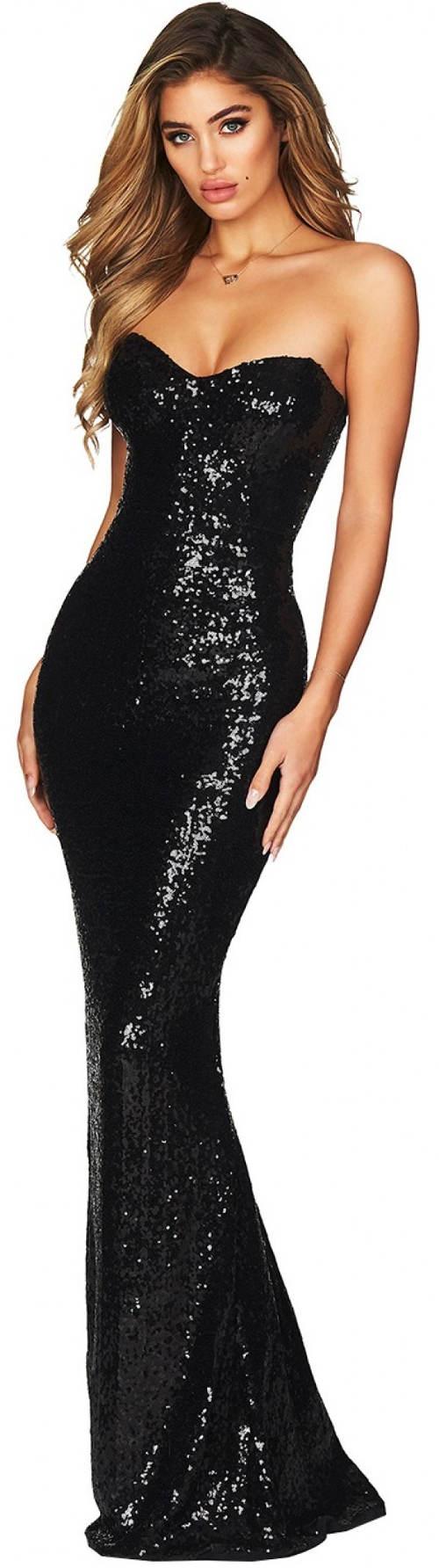 Dlouhé černé korzetové šaty