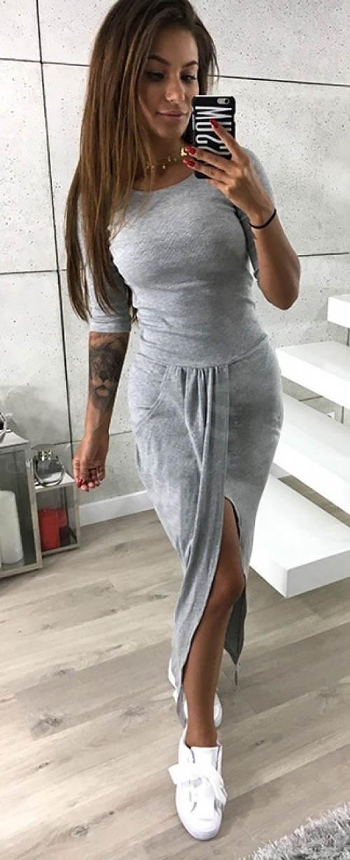 Dlouhé pohodlné volnočasové šaty