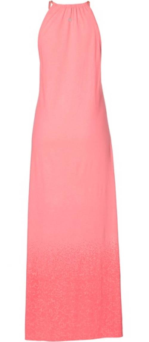 Dlouhé růžové letní šaty