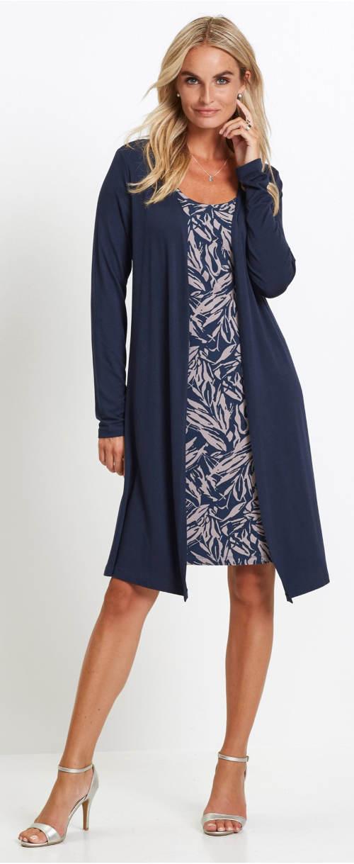 Dvouvrstvé šaty pro starší