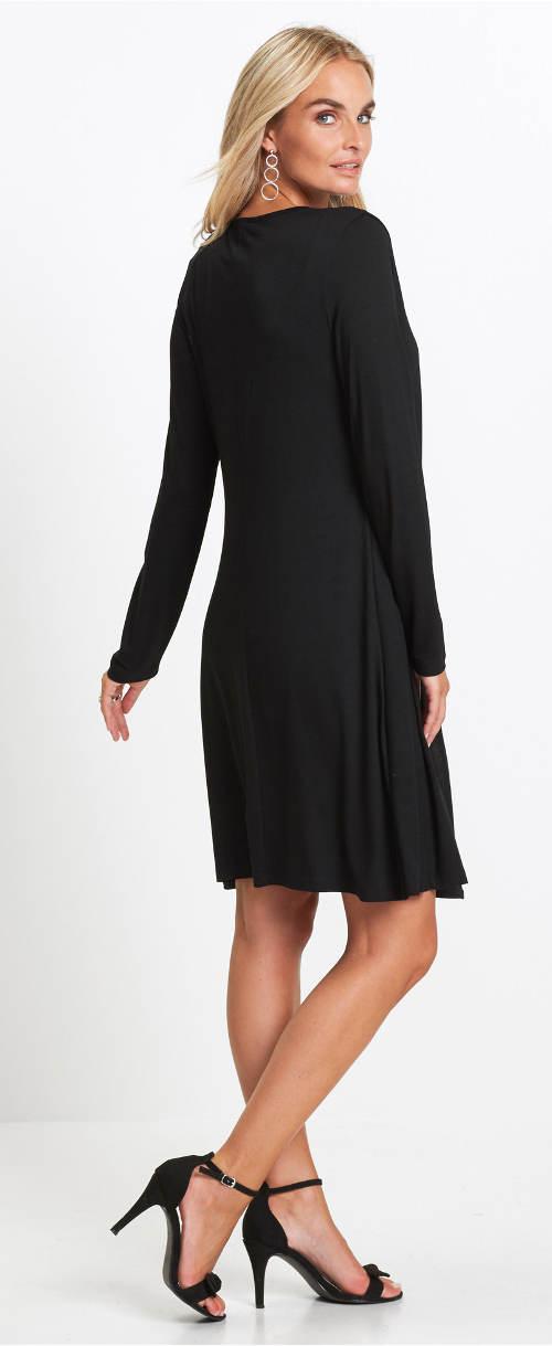 Elegantní černé dámské šaty