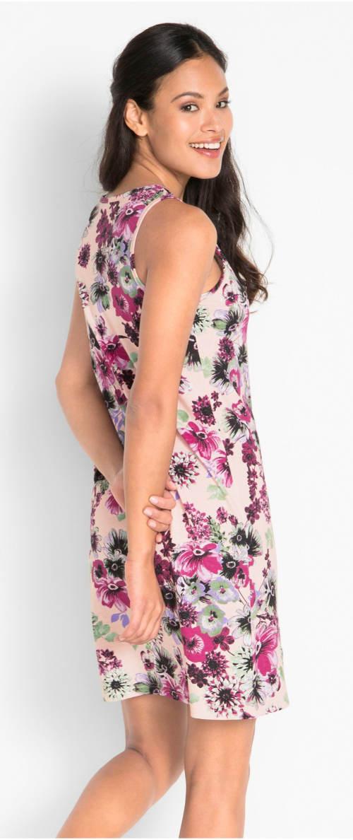 Fialkové letní květinové šaty