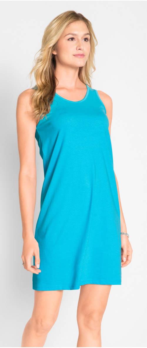 Jednoduché letní tyrkysové šaty
