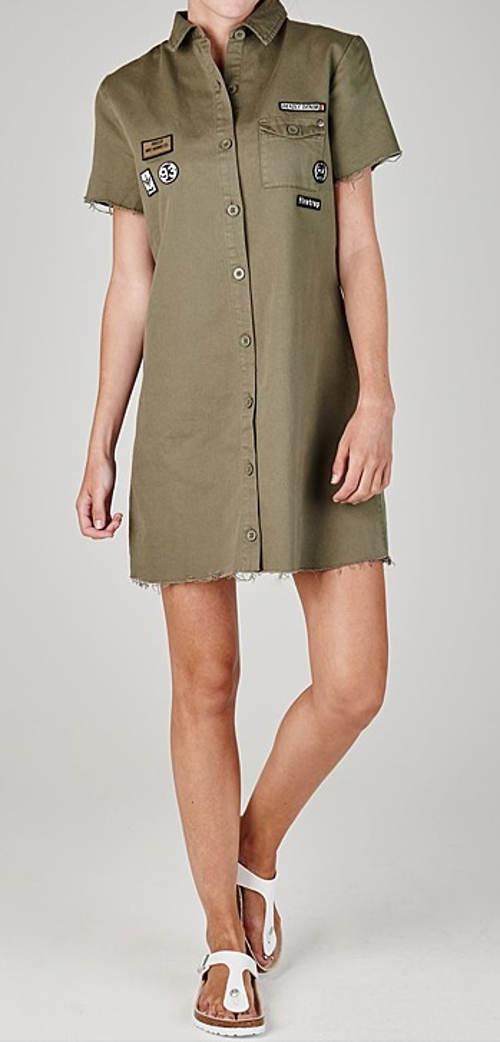 Košilové dámské mini šaty