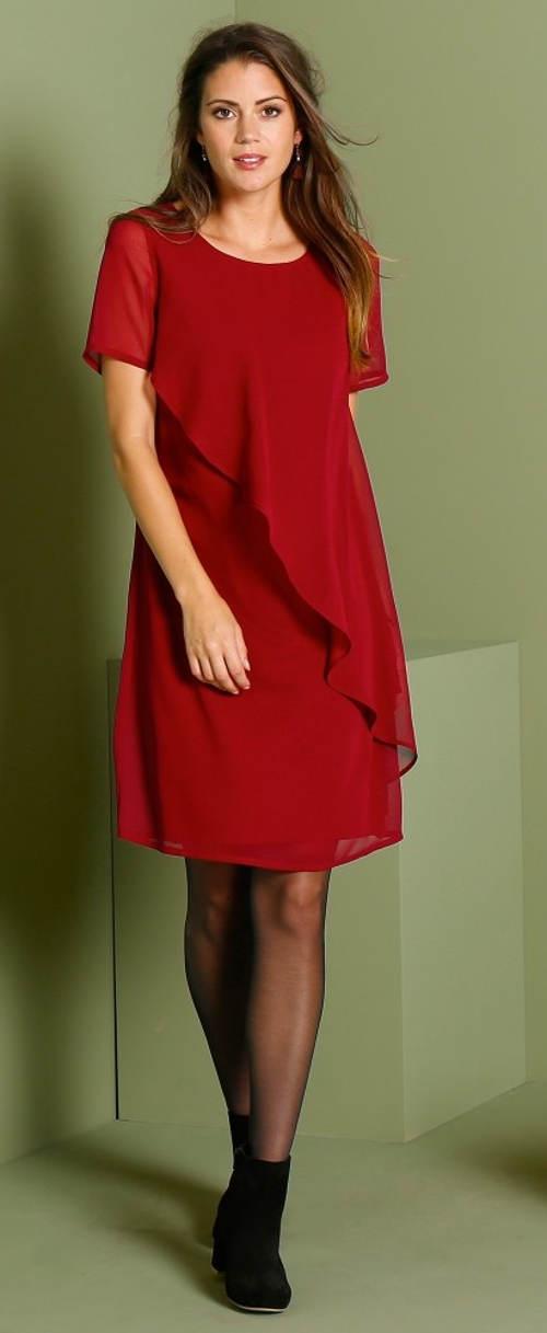 Lehounké společenské šaty s volánkem