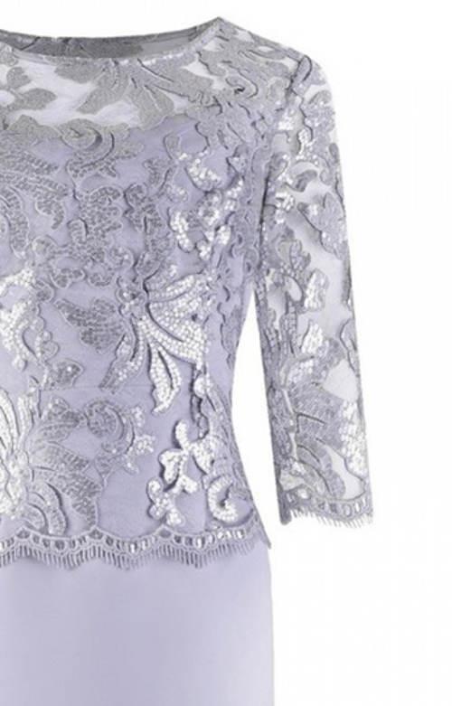 Luxusní stříbrné krajkové šaty