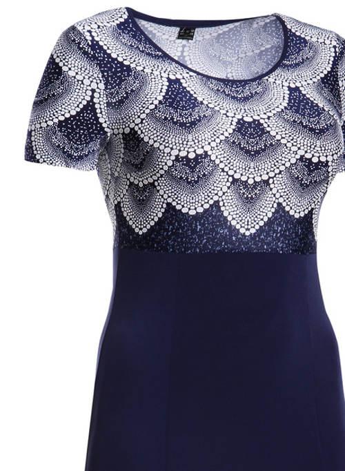Modré plesové šaty pro starší