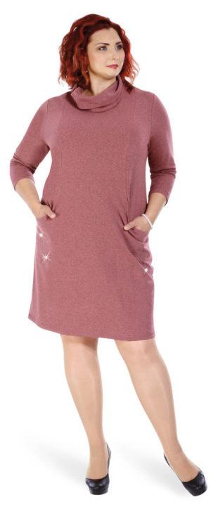 Podzimní pouzdrové šaty pro plnoštíhlé