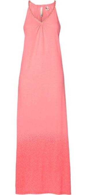 Růžové dámské maxi šaty O'Neill
