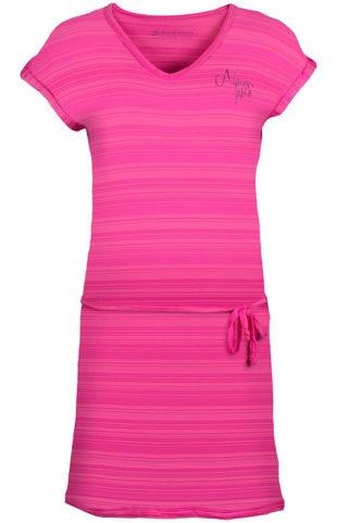 Růžové výprodejové sportovní šaty Alpine Pro