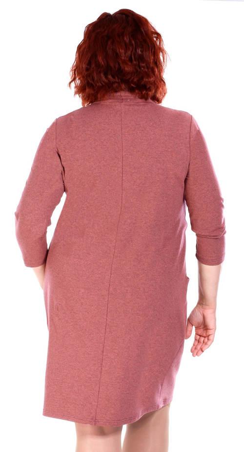 Růžové zimní šaty pro starší