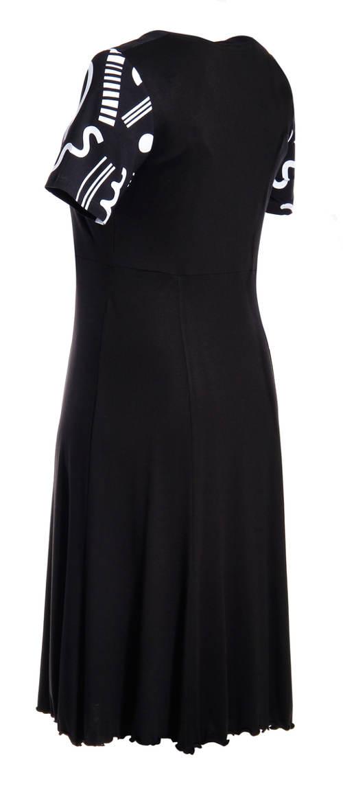 Společenksé XXL šaty se skládanou sukní
