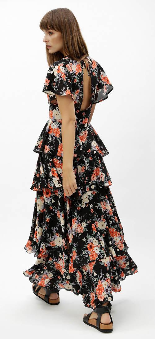 Volánkové dámské maxi šaty