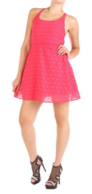 Výprodejové růžové letní šatičky