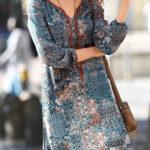 Vzdušné šaty s barevným patchwork vzorem