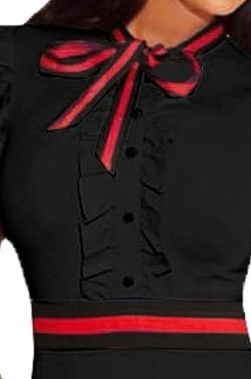 Černé šaty s volánovou légou