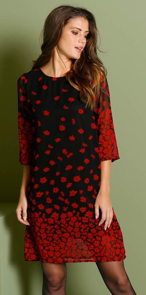 Červeno-černé společenské šaty pro starší