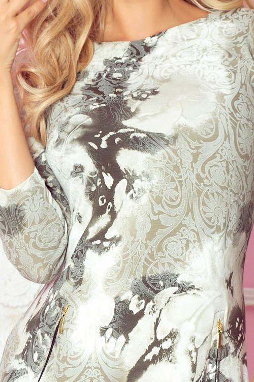 Dámské šaty s batikovaným potiskem