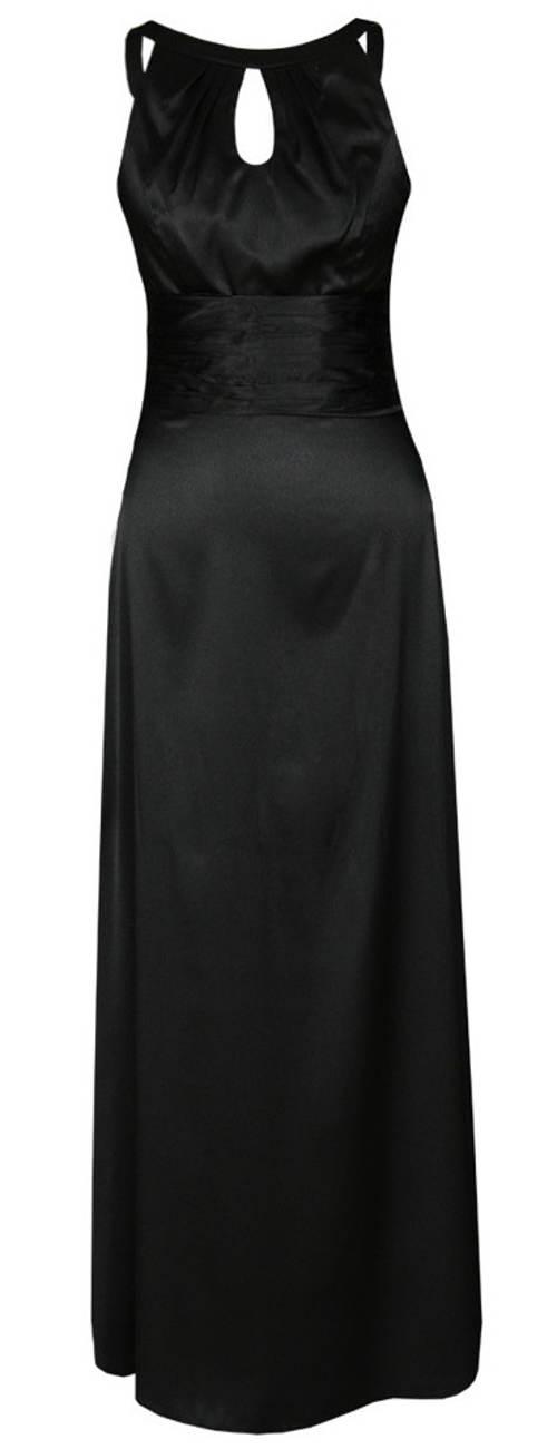 Dlouhé černé plesové šaty bez rukávu