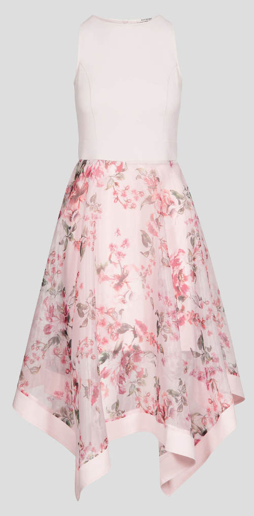 Květované letní šaty bez rukávů