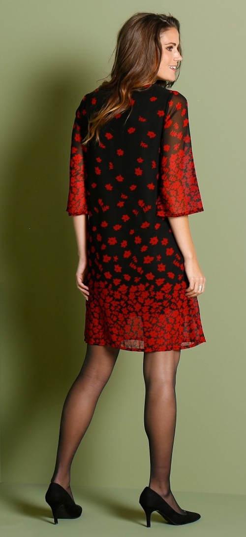 Lehké společenské šaty s tříčtvrtečním rukávem