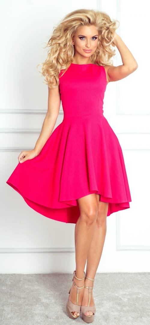 Malinové dámské společenské a plesové šaty