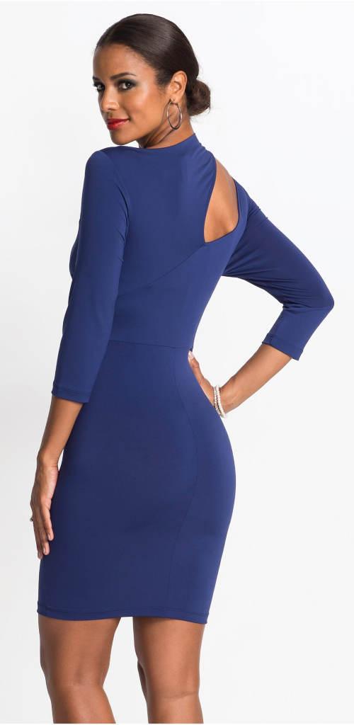 Modré dámské plesové šaty