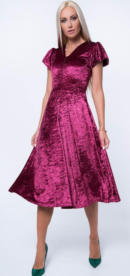Plesové plyšové midi šaty