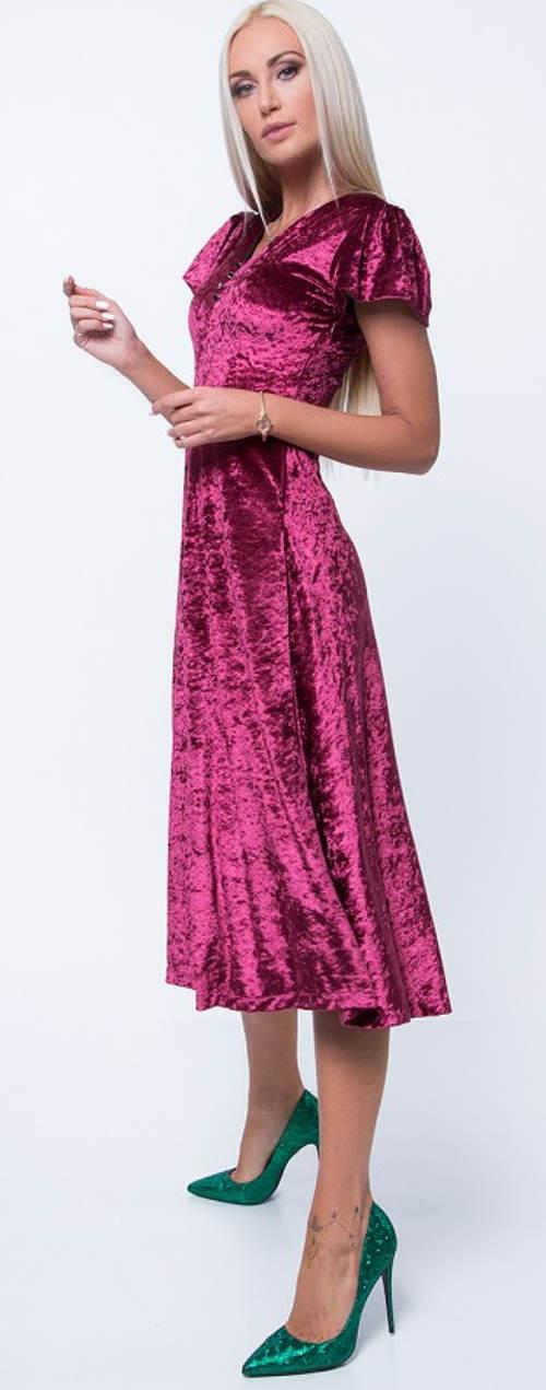 Plesové šaty sametový efekt