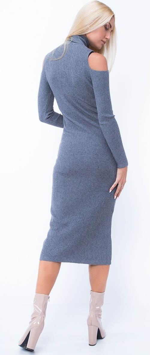 Pletené zimní šaty ke kozačkám