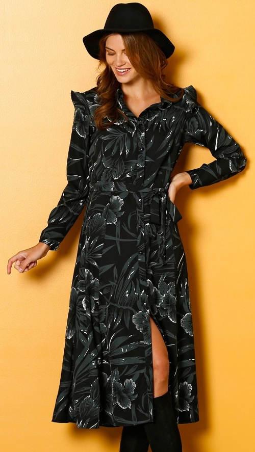 Rozepínací rozevlaté dámské šaty