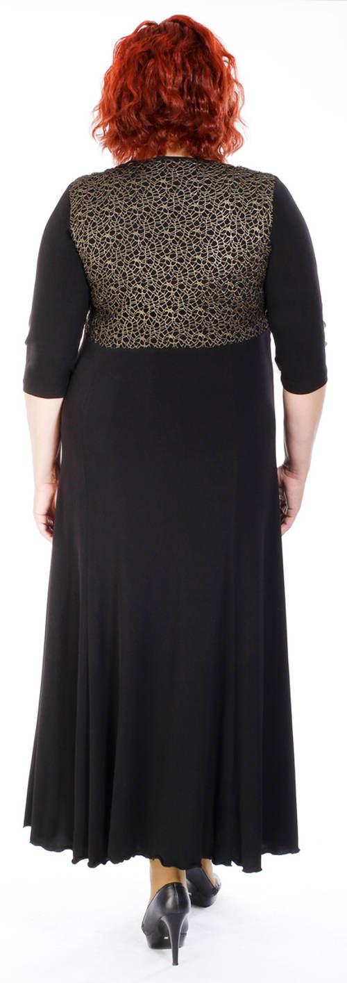 Společenské šaty pro staší se širokou sukní