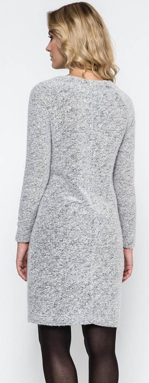 Světle šedé mini šaty z pružné úpletoviny ce0248c6928