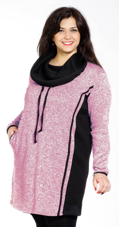 Zimní mikinové XXL šaty