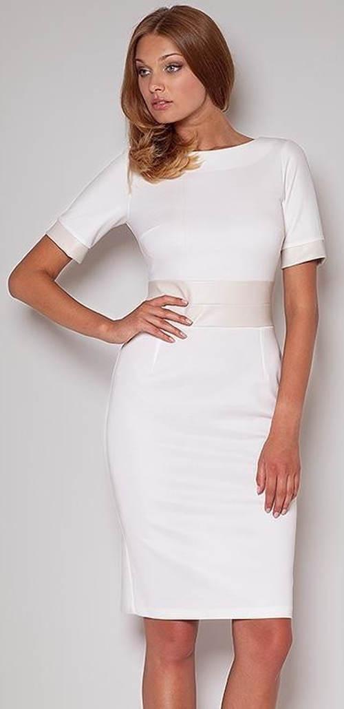 Bílé dámské šaty pro jakoukoliv příležitost