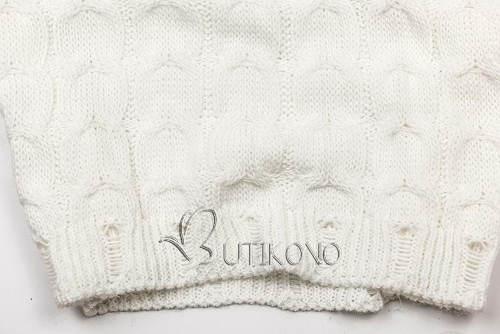 Bílé svetrové dámské šaty