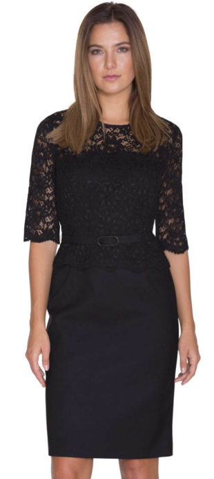 Černé krajkové šaty Pietro Filipi