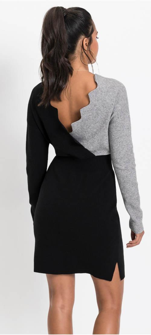 Černošedé pletené šaty