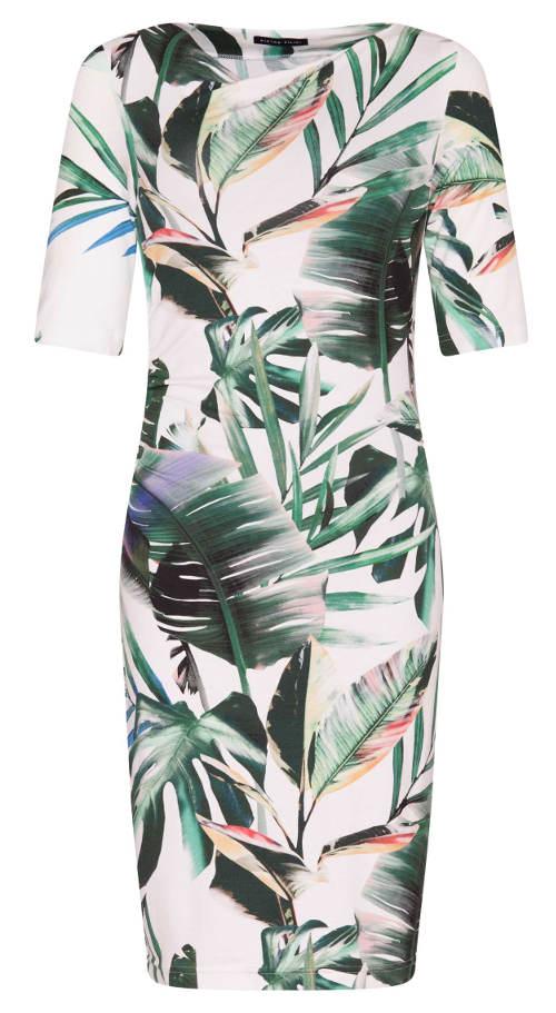 Dámské šaty s potiskem palmových listů