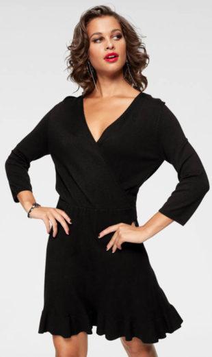 Jednobarevné zavinovací pletené šaty