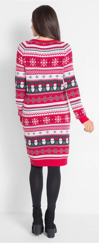Pletené šaty s norským vzorem