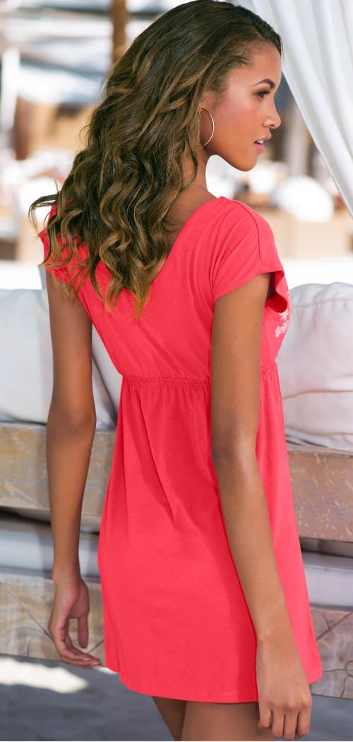 Růžové letní krátké šaty