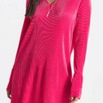 Zářivě růžové skládané šaty