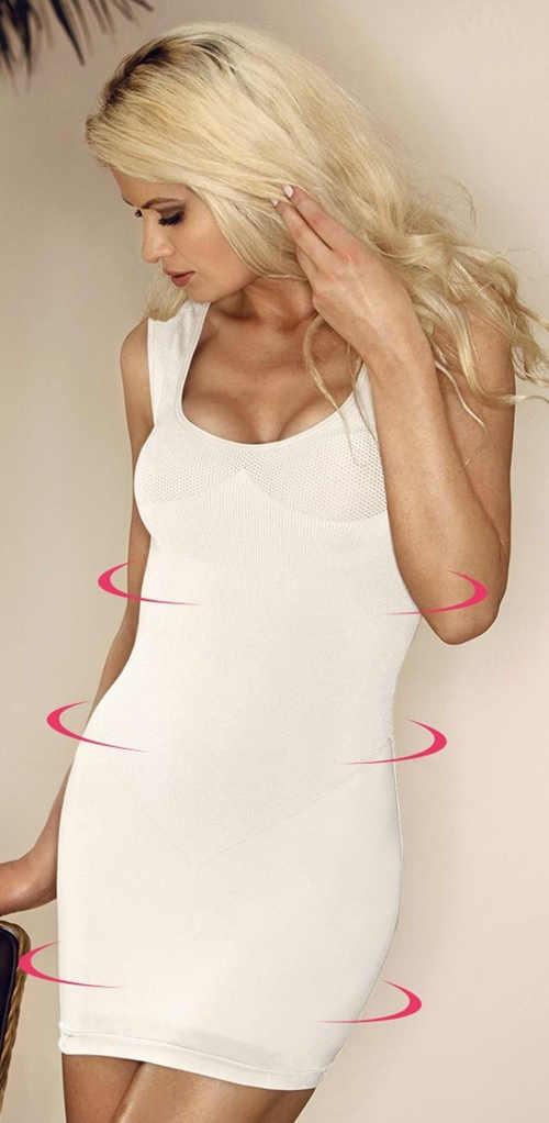Bílé podvlékací stahovací šaty