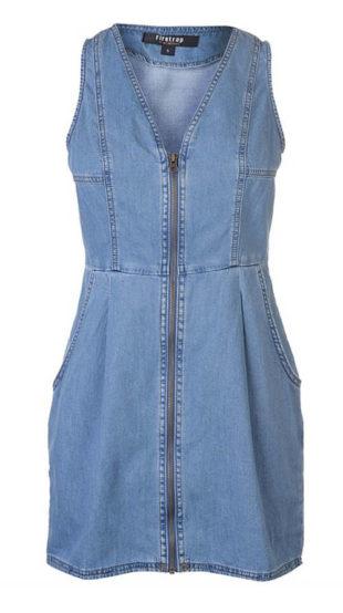 Letní džínové šaty bez rukávů