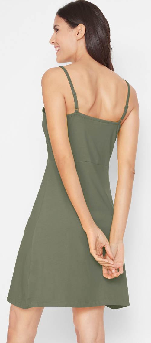 Letní šaty s nastavitelnými ramínky