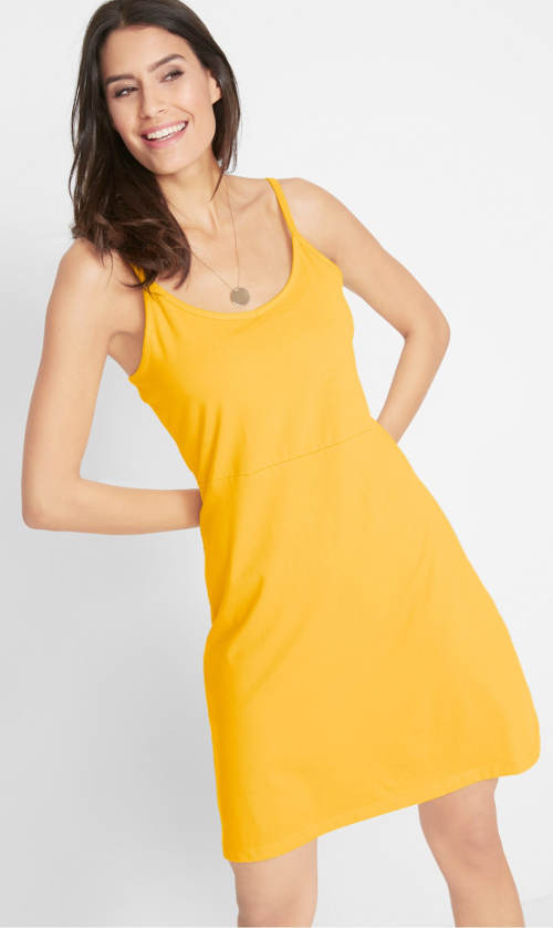 Levné letní šaty na tenká ramínka