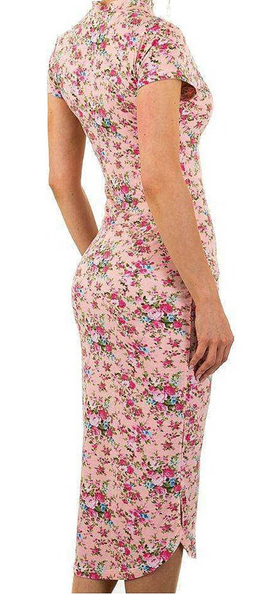Růžové midi šaty letní výprodej