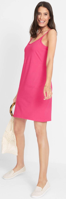 Sytě růžové dámské letní šaty
