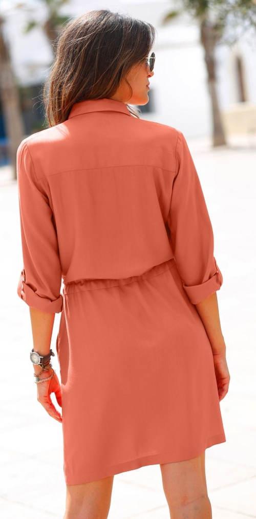Terakotové volnočasové šaty